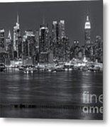 Manhattan Twilight Vii Metal Print