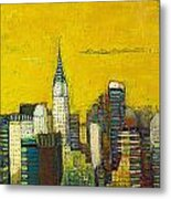 Manhattan with Chrysler and Empire building Metal Print