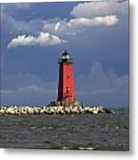 Manistique Lighthouse In Michigan's Upper Peninsula Metal Print