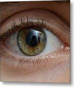 Mans Eye Metal Print