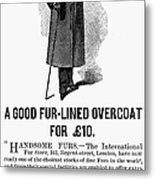 Mans Overcoat, 1888 Metal Print