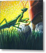 All Players Great And Small - Mantis Metal Print