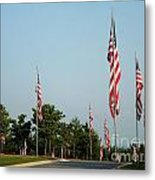 Many American Flags Metal Print