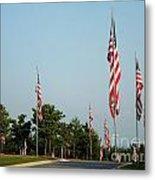 Many American Flags Metal Print