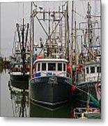 Many Fish Boats Metal Print