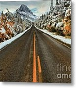 Many Glacier Road Metal Print