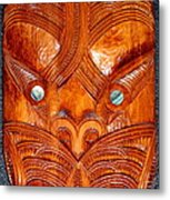 Maori Mask One Metal Print