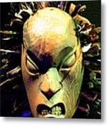 Maori Mask Two Metal Print