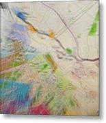 Map Abstract 2 Metal Print