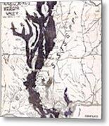 Map: Mississippi River, 1874 Metal Print