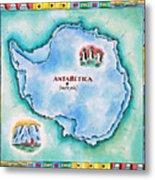 Map Of Antarctica Metal Print
