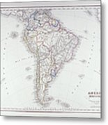 Map Of South America Metal Print