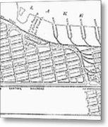 Map: Pullman, C1885 Metal Print