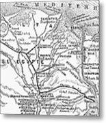 Map: Suez Canal, 1869 Metal Print