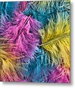 Marabou Colours Metal Print