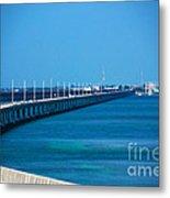 Marathon And The 7mile Bridge In The Florida Keys Metal Print