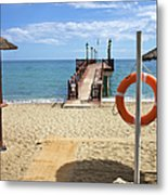 Marbella Beach In Spain Metal Print