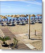 Marbella Holiday Beach Metal Print
