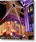 Marble Arch Christmas Metal Print