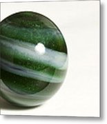 Marble Green Onion Skin 2 Metal Print