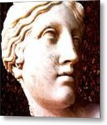 Marble Sculpture Metal Print