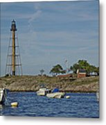 Marblehead Lighthouse From The Water Metal Print