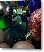 Marbles Around The World Metal Print
