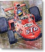 March 711 Ford Ronnie Peterson Gp Italia 1971 Metal Print by Yuriy  Shevchuk