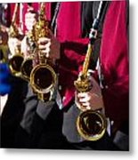 Marching Band Saxophones Cropped Metal Print