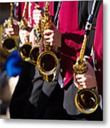 Marching Band Saxophones  Metal Print