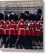 Marching In Red And Black Metal Print