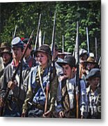 Marching In To Town Metal Print
