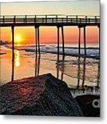 Margate Sunrise Metal Print by John Loreaux