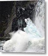 Margerie Glacier Calve Metal Print