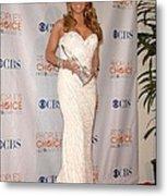 Mariah Carey Wearing A Ysa Makino Gown Metal Print by Everett