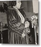 Marian Anderson 1897-1993, At A Nbc Metal Print by Everett