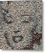 Marilyn Monroe Bubble Glass Mosaic Metal Print