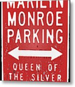 Marilyn Monroe Parking Metal Print