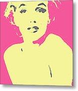 Marilyn Monroe Retro Stamp Metal Print by Barrington Black
