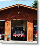 Marin County Fire Department . Point Reyes California . 7d15920 Metal Print by Wingsdomain Art and Photography