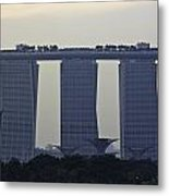 Marina Bay Sands As Seen From The Harbor Cruise Metal Print