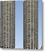 Marina City Chicago - Life In A Corn Cob Metal Print