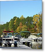 Marina In Fall Metal Print