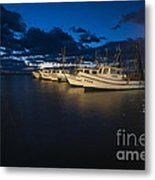 Marina With Fishing Boats Metal Print