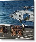 Marines Attach Cargo To An Mh-60s Sea Metal Print