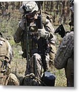 Marines Communicate With Other Elements Metal Print