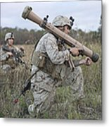 Marines Conduct A Simulated Attack Metal Print by Stocktrek Images