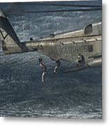 Marines Conduct Insertion Exercises Metal Print