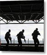 Marines Conduct Rifle Movement Drills Metal Print