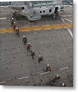 Marines Embark A Ch-46e Sea Stallion Metal Print